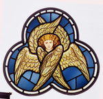 Window depicting a many-winged angel, made by the William Morris factory, 1870 Wall Art & Canvas Prints by Dante Gabriel Rossetti