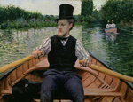 Rower in a Top Hat, c.1877-78 Fine Art Print by Thomas Cowperthwait Eakins