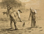 Peasants planting potatoes Fine Art Print by Francisco Jose de Goya y Lucientes