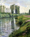 Small Branch of the Seine at Argenteuil Fine Art Print by Claude Monet