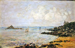 The Bay of Douarnenez and Ile Tristan Fine Art Print by Paul Gauguin