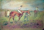 At the Races Fine Art Print by Henri de Toulouse-Lautrec