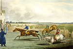 Forth Mile, from Steeplechasing, engraved by Charles Hunt Postcards, Greetings Cards, Art Prints, Canvas, Framed Pictures, T-shirts & Wall Art by Jules Ernest Renoux