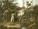 Shooting, plate 2, engraved by R.G. Reeve, 1806 Fine Art Print by Jane Carpanini