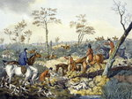 Drawing a Cover, from 'Foxhunting', engraved by Thomas Sutherland Postcards, Greetings Cards, Art Prints, Canvas, Framed Pictures, T-shirts & Wall Art by John Constable