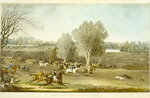 Coursing - A View of Hatfield Park, engraved by James Pollard Fine Art Print by Jean-Baptiste Oudry