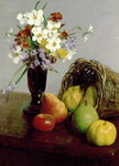 Fruits and Flowers, 1866 Wall Art & Canvas Prints by Felix Edouard Vallotton