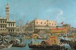 The Bucintoro returning to the Molo Fine Art Print by Canaletto