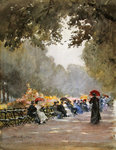 The Row in the morning, 1892 Wall Art & Canvas Prints by Constantin Guys