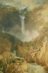 The Great Falls of the Reichenbach, 1804 Wall Art & Canvas Prints by Albert Goodwin