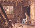 The Maid and the Magpie, A Cottage Interior at Shillington, Bedfordshire, 1834 Fine Art Print by William Henry Hunt
