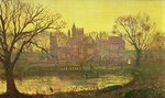 The Moated Grange Fine Art Print by John Atkinson Grimshaw