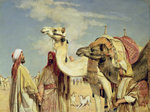 Greetings in the Desert, Egypt Fine Art Print by Carl Haag