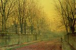 In the Golden Glow of Autumn, 1884 Fine Art Print by John Atkinson Grimshaw