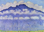 Andey Mountain, vue from Bonneville, 1909 Fine Art Print by Odilon Redon