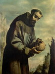 St. Francis in Meditation Fine Art Print by Jusepe de Ribera