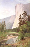 El Capitan, Yosemite Valley Postcards, Greetings Cards, Art Prints, Canvas, Framed Pictures & Wall Art by Albert Bierstadt