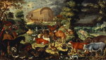 The Animals Entering the Ark Fine Art Print by Johann Wenzel Peter