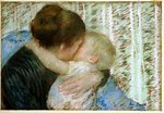 A Goodnight Hug Fine Art Print by Eugene Carriere