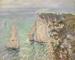 L'Aiguille and the Porte d'Aval, Etretat, 1886 Fine Art Print by Georges Lemmen