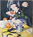 Roses and Oranges Poster Art Print by Samuel John Peploe