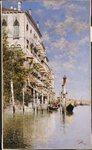 Along the Grand Canal Fine Art Print by Giovanni Antonio Canaletto