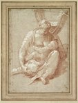 Virgin Seated on the Ground, Nursing the Child Fine Art Print by Andrea Mantegna
