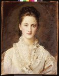 Portrait of the Artist's Daughter, Mary, half length, 1875-76