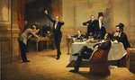 The Dinner Party, 1837 Wall Art & Canvas Prints by Hilary Rosen