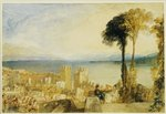 Arona, Lago Maggiore Wall Art & Canvas Prints by Gustave Courbet
