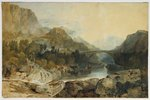 Rosthwaite Bridge, Borrowdale, c.1802 Postcards, Greetings Cards, Art Prints, Canvas, Framed Pictures & Wall Art by Joseph Mallord William Turner