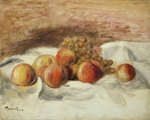Still life with peaches Fine Art Print by Pierre Auguste Renoir