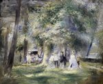 In the Park at Saint-Cloud, 1866 Fine Art Print by August Macke