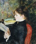 The Reader, 1877 Poster Art Print by Pierre-Auguste Renoir