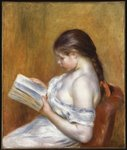 Reading, 1888 Poster Art Print by Pierre-Auguste Renoir