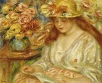 The Reader Postcards, Greetings Cards, Art Prints, Canvas, Framed Pictures, T-shirts & Wall Art by Pierre-Auguste Renoir