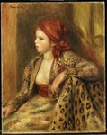Odalisque, c.1895 Wall Art & Canvas Prints by Pierre-Auguste Renoir