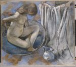 Woman in the Tub, 1884 Fine Art Print by Pierre-Auguste Renoir