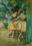 Three Dancers with a Backdrop of Trees and Rocks, 1904-06 Postcards, Greetings Cards, Art Prints, Canvas, Framed Pictures & Wall Art by Edgar Degas
