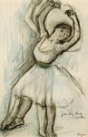 Study of a Dancer Fine Art Print by Edgar Degas