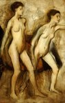 Young Spartan Girls Provoking the Boys Wall Art & Canvas Prints by Pierre-Auguste Renoir