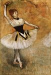Dancer with Tambourine, 1882 Fine Art Print by Edgar Degas