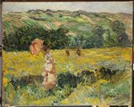Limetz Meadow, 1887 Fine Art Print by Claude Monet