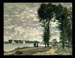 The Banks of the Seine at Argenteuil, 1872 Wall Art & Canvas Prints by Claude Monet