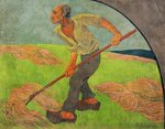The Haymaker, homage to Van Gogh, 1892 Fine Art Print by Franz W. Seiwert