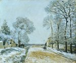 The Road, Snow Effect, 1876 Wall Art & Canvas Prints by Caspar David Friedrich