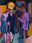 A Night-time Street Scene, 1925 Wall Art & Canvas Prints by Amedeo Modigliani