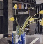 Yellow Tulips, c.1922-23 Wall Art & Canvas Prints by John Lidzey