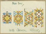 A sheet of studies of mosaic bands, Orvieto Cathedral, 1891 Fine Art Print by Kazimir Severinovich Malevich