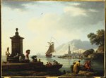A View of the Harbour at Genoa, 1773 Fine Art Print by English School